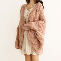 Cuddly coat in Pink/black/rice wihte