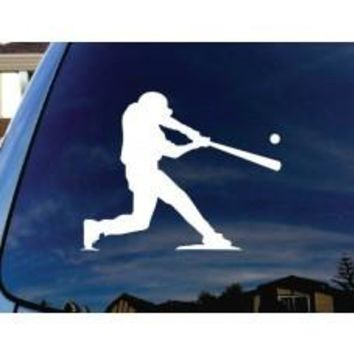 Baseball Player at Bat Car Window Decal Automobile Tablet Decal Tablet PC Sticker Wall Laptop mobile truck Notebook macbook Iphone Ipad