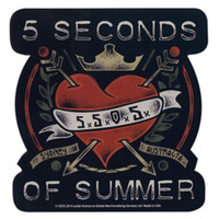 5 Seconds Of Summer Heart Sticker
