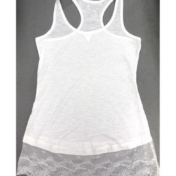 lace Top Extender, womens tanks, top liner, lace tank, cami dress, hem extender, tank with lace,