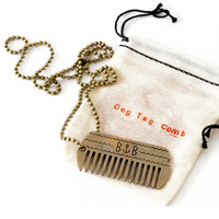 Dog Tag Beard Comb Necklace