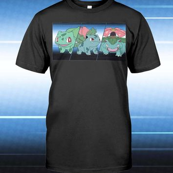 Grass Starter Pokemon Unisex T-Shirt - Any Color Shirt Available