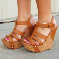 We'll Be Okay Wedges: Cognac