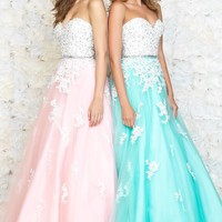Strapless Sweetheart Ball Gown by Night Moves