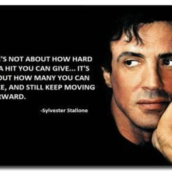 Rocky Balboa Motivational Quote silk Poster
