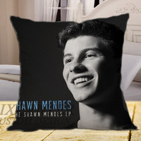 The Shawn Mendes Smile on square pillow cover 16inch 18inch 20inch