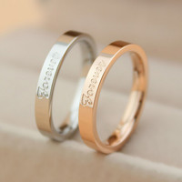 Forever love rose gold ring lover tail ring gift-149