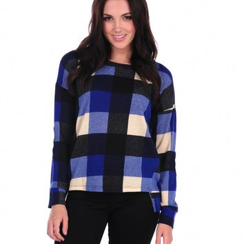 Vintage Havana Buffalo Check Elbow Patch Top