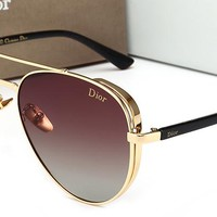 Dior Women Fashion Trending Popular Summer Sun Shades Eyeglasses Glasses Sunglasses Golden/Tea G-HWYMSH-YJ
