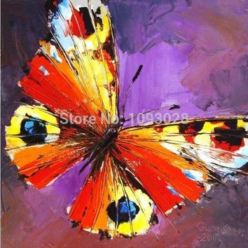 Art Oil Hand-painted picture 100% home-made Popular Butterfly Of No