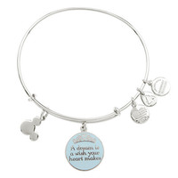 Disney Parks Cinderella Dream Charm Bracelet Alex & Ani Silver New With Tags