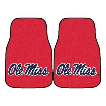 Mississippi Rebels NCAA Car Floor Mats (2 Front) Ole Miss Logo