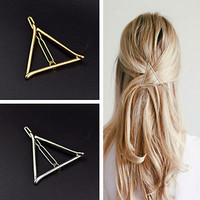 Chic Women Korean Style Triangle Hairpin Hair Clip Hair Accessories Bobby Pins E