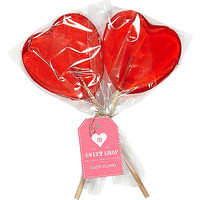 River Island Womens Red heart lollies pack