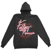 Falling In Reverse  Lips Sparkle Logo Girls Jr Hooded Sweatshirt Black