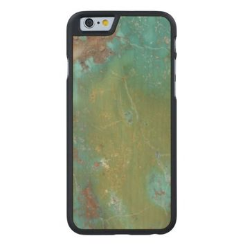 Hot Cool Luxury Turquoise Jewellered Carved® Maple iPhone 6 Case