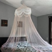 Best Choice Products® Pink Princess Bed Canopy Mosquito Net Bed Netting