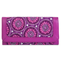 Plums Up Mickey Wallet by Vera Bradley