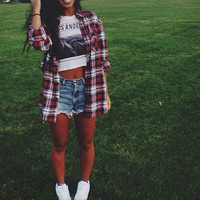 Grunge flannel shirt