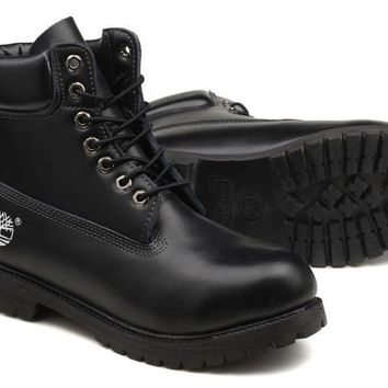 Timberland Rhubarb Boots 10061 Black For Women Men Shoes Waterproof Martin Boots