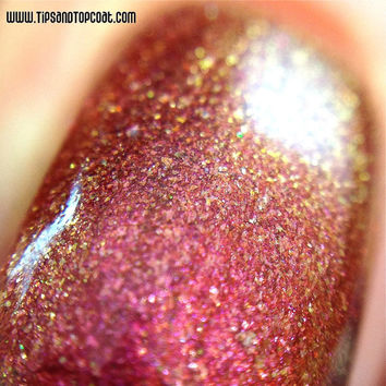 New-Multichrome (Fireball) Multi-Color Shifting Polish: Custom-Blended Glitter Nail Polish / Indie Lacquer / Polish Me Silly
