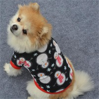 Winter Warm Pet cat dog Jacket clothes pullover snowman print snowflake puppy kitty Shirt coat apparel thick clothing supply