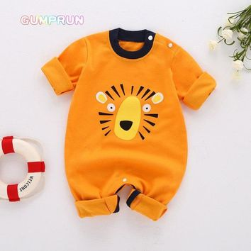Winter baby boy's clothing Cartoon Pig Baby Romper Long Sleeve children's Clothing Warm Baby Clothes Cotton infant baby jumpsuit