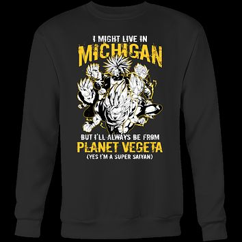 Super Saiyan Michigan Group Sweatshirt T shirt - TL00067SW