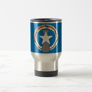 Travel Mug with Flag of Northern Mariana Islands