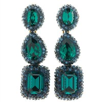 TRIPLE DROP CRYSTAL EARRING