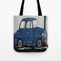 Cuba Car Tote Bag by Kathleen Sartoris