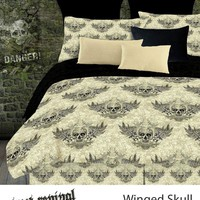 WINGED SKULL COMFORTER SET IN DIFFERENT SIZES