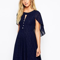 Traffic People Renaissance Cape Dress - Navy