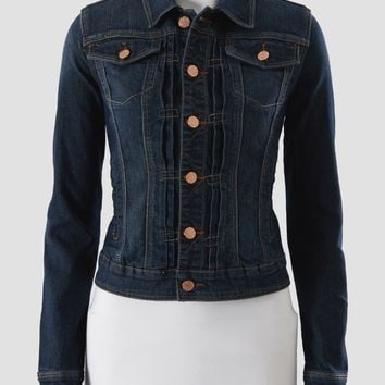 Earl Jean Copper Button Jean Jacket - Women | Stein Mart