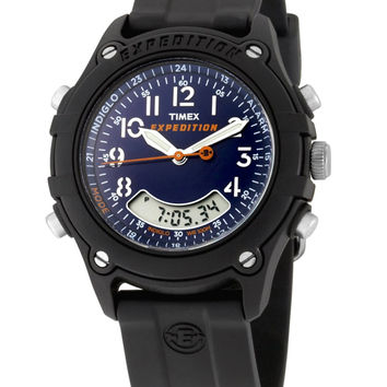 Timex T49744 Men's Expedition Analog-Digital Blue Dial Alarm Watch