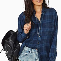 After Party Vintage Tried And True Flannel - Navy