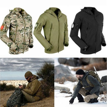 Emei Men's Outdoor Hunting Camping Waterproof Coats Jacket Army Coat Outerwear Hoodie [8833955852]