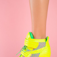 High Voltage Sneaks – Neon Yellow