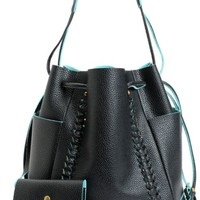 De L'Avion Black Bucket Bag