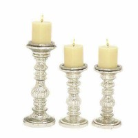 Charismatic Set Of Two Glass Candle Holder