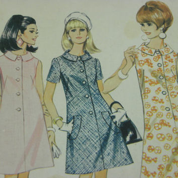 Vintage Womens Dress McCall's sewing Pattern 8785