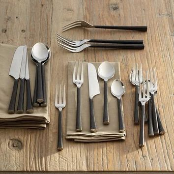 Artisan Hammered Flatware, 20-Piece Set                       | Robert Redford's Sundance Catalog