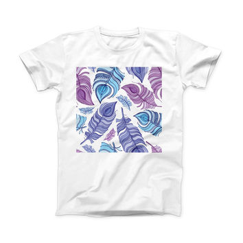 The Watercolor Vector Feather ink-Fuzed Front Spot Graphic Unisex Soft-Fitted Tee Shirt