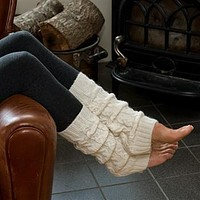 Brushed Cable Leg Warmers