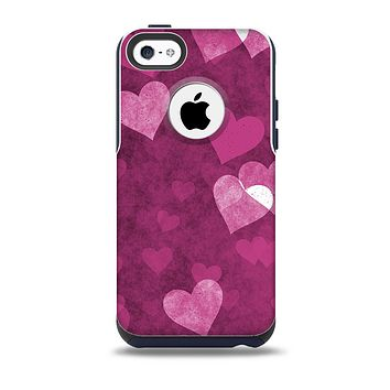 Purple and Pink Layered Hearts Skin for the iPhone 5c OtterBox Commuter Case