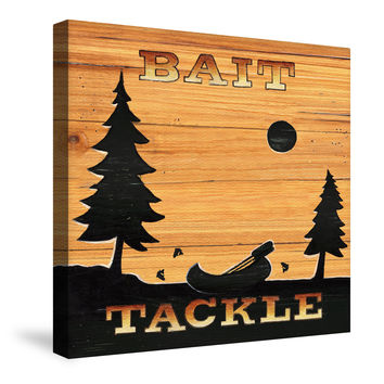 Bait and Tackle Canvas Wall Art