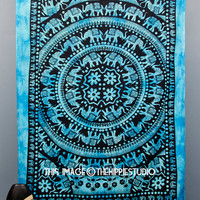 Indian Elephant Tapestry, Hippie Mandala Tapestries, Tapestry Wall Hanging, Bohemian Tapestries, Boho Wall Tapestries, Dorm Decor Tapestries