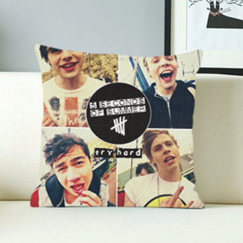 5 Second of summer collage - Design Pillow Case with Black/White Color.