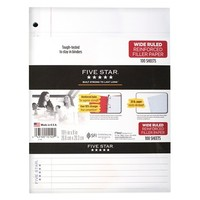 Mead Five Star Wide-Ruled Reinforced Filler Paper 100-ct.