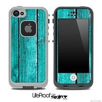 Trendy Green Wood V2 Skin for the iPhone 5 or 4/4s LifeProof Case